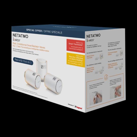 Netatmo 3x Thermostatic Valve intelligens radiátor szelep