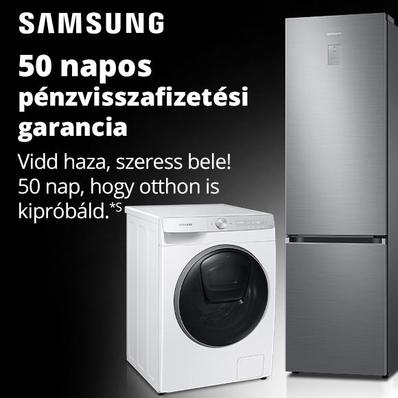 Samsung 50 napos pénzvisszafizetési garancia