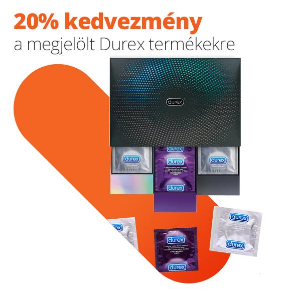 20% kedvezmény a megjelölt Durex termékekre