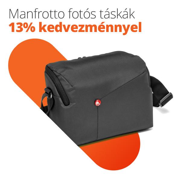 Manfrotto fotós táskák 13% kedvezménnyel