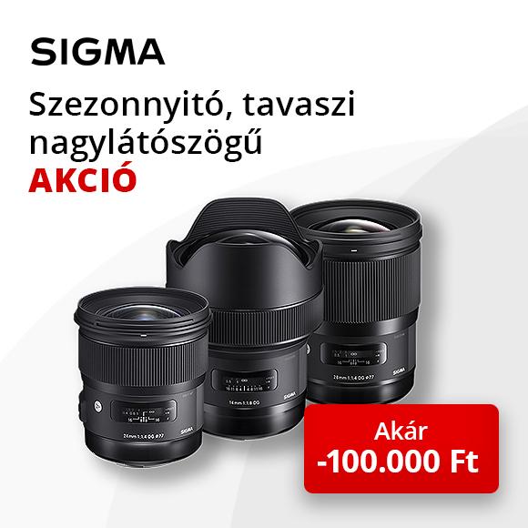 SIGMA Szezonnyitó, tavaszi nagylátószögű akció, akár -100 000 Ft