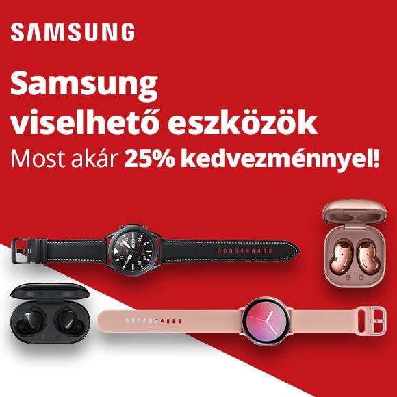 Samsung viselhető eszközök akár 25% kedvezménnyel!