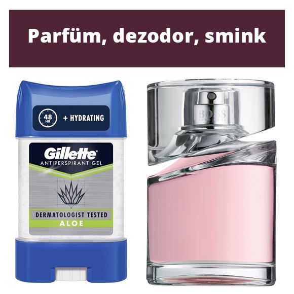 Parfüm, dezodor, smink