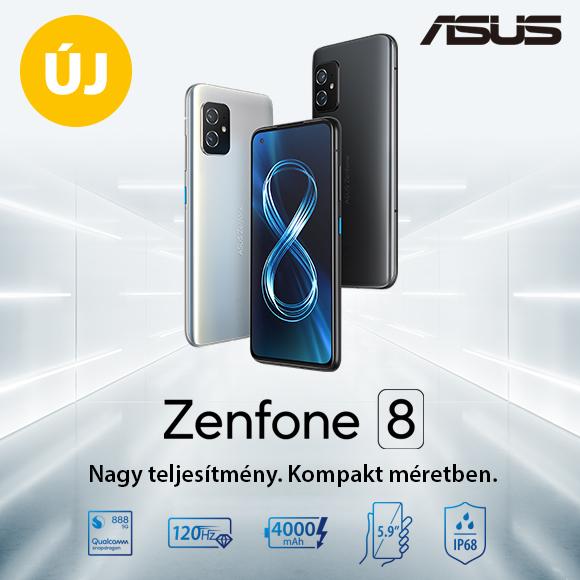 ASUS Zenfone 8 Nagy teljesítmény. Kompakt méretben.