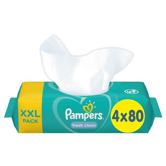 Pampers Fresh Clean törlőkendő, 12x80 db