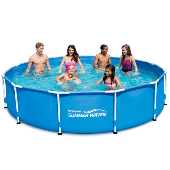 Summer Waves®, 3,66 méteres fémvázas medence, vízforgatóval