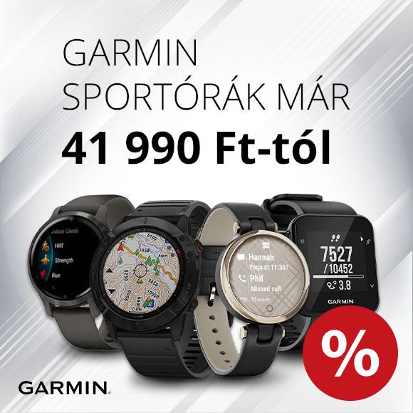 Garmin sportórák már 41 990 Ft-tól!