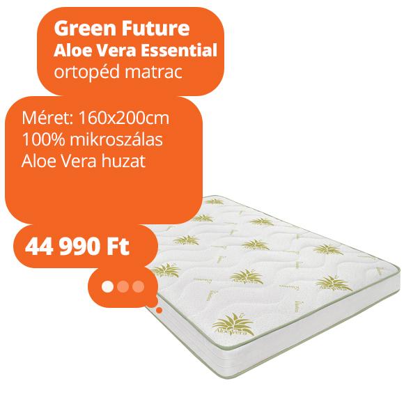 Green Future Aloe Vera Essential ortopéd matrac, 160x200cm
